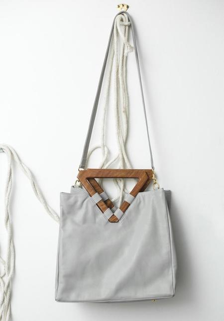 Mei Vintage Triangle Tote - Grey