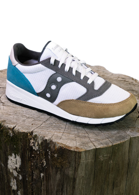 Saucony Jazz 91 (White/Tan/Light Blue)