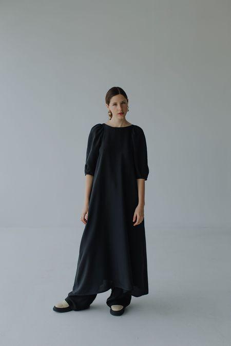 Mina Bloom Dress - Black