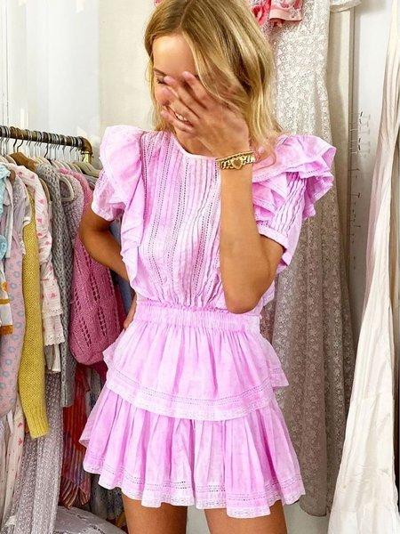 LoveShackFancy Natasha Mini Dress - Peony Pink