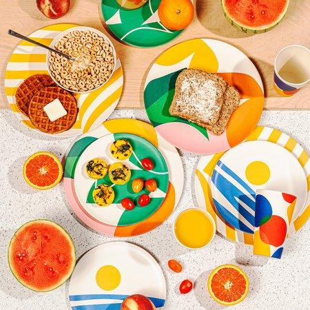 Poketo Bamboo Dinner Plate Set - Flora