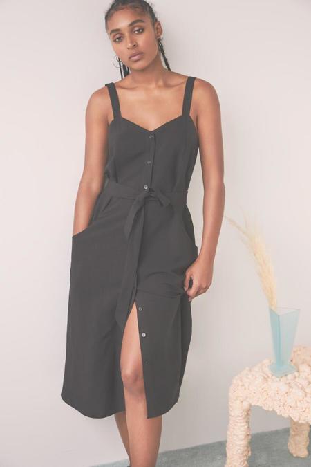 EVE GRAVEL SS21 DAISY DRESS - BLACK