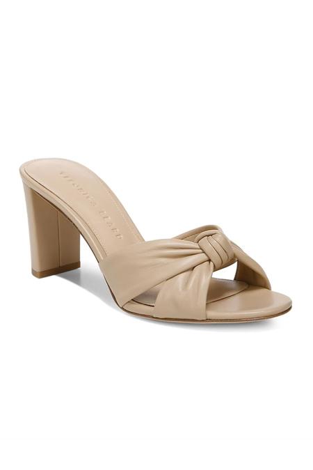 Veronica Beard Granita Nappa Leather Sandals - Nude