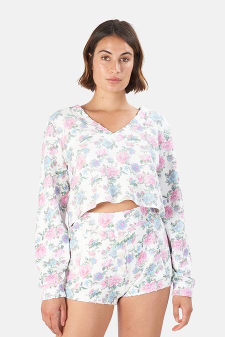 LoveShackFancy Tamika V-neck Pullover Sweater - Sea Orchid