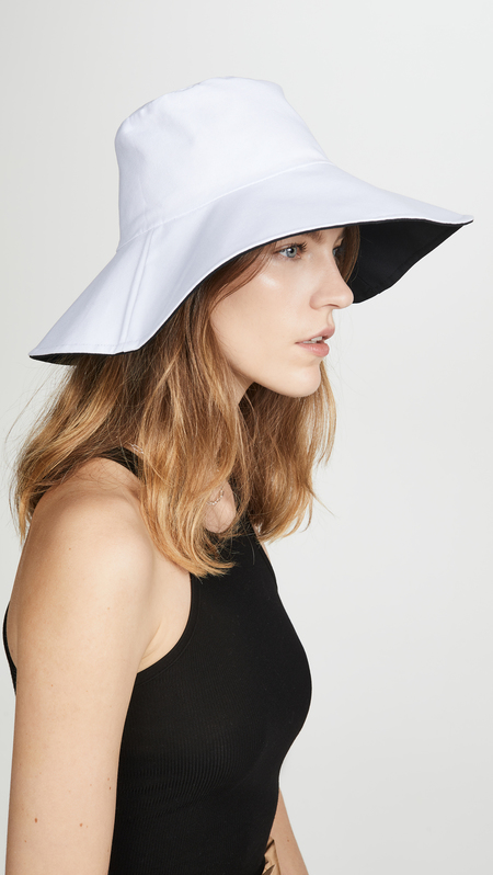 HAT ATTACK Reversible Canvas Bucket Packable Hat - Chambray/White