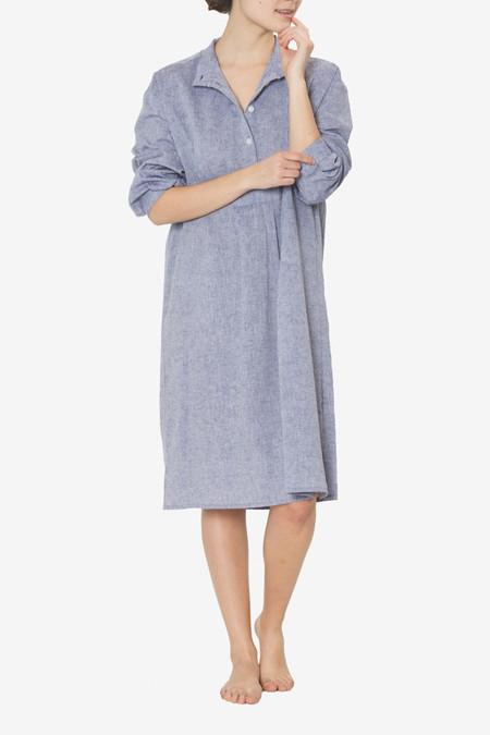 The Sleep Shirt Long Sleep Shirt Linen Chambray
