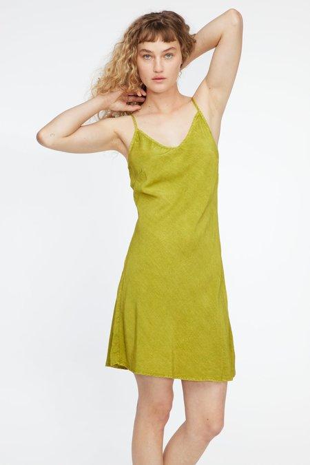 Lacausa Nico Mini Slip - Moss Crinkle Wash
