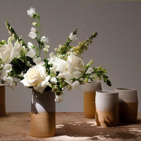LYT Honeycomb Vase - white