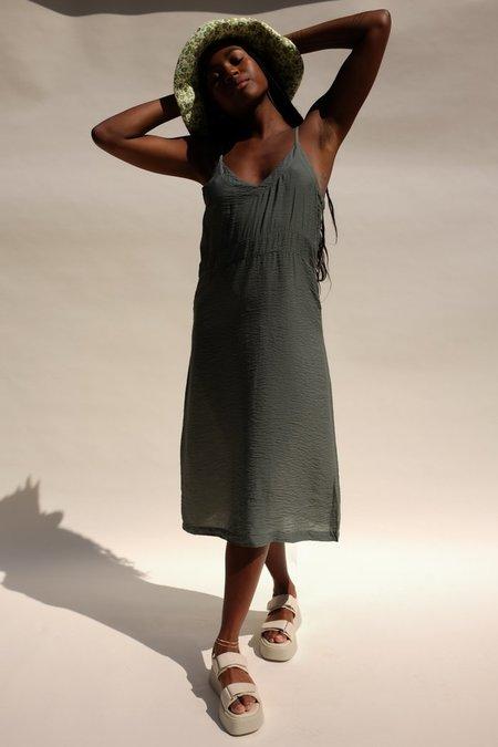 Lacausa Alma Slip Dress - Seaweed