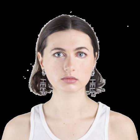 Ashley Williams Help Earrings - Clear