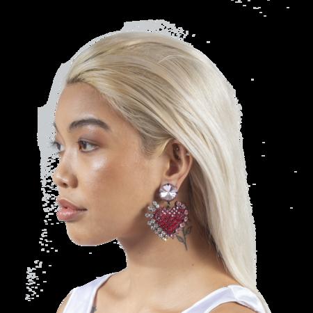Ashley Williams Love Heart Earrings - CLEAR