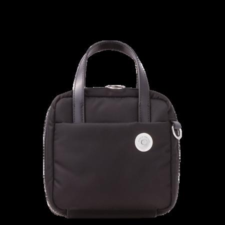 KARA Nylon Brick Bag - Black