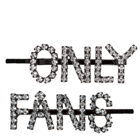 Ashley Williams Only Fans Hair Clips - Black/Crystal