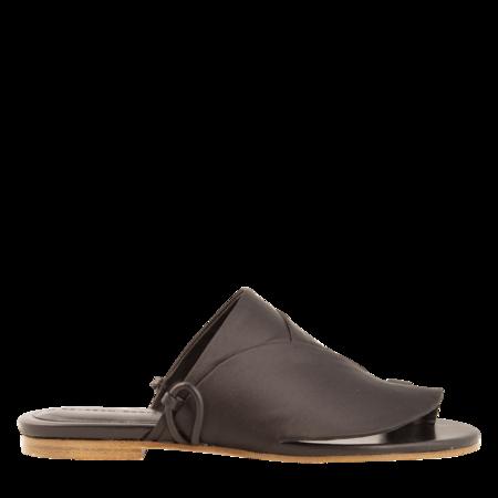 Esteban Cortazar Satin Detail Sandals - Black