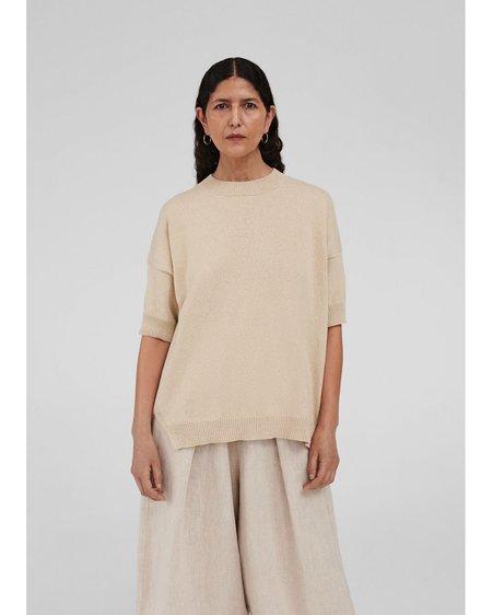 Mónica Cordera Cotton Sweater - Silver Green