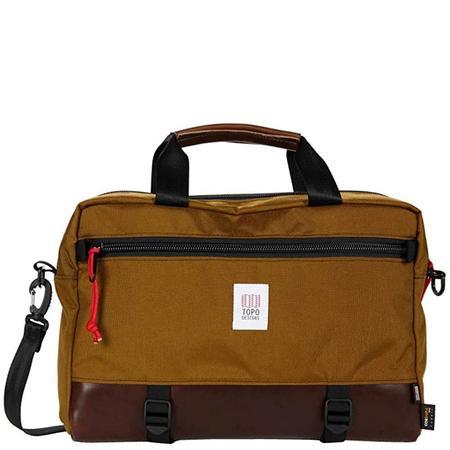 Topo Designs Couter Briefcase - Duck Brown/Dark Brown Leather