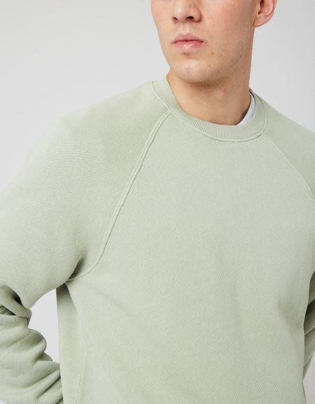 Bhode Raglan Crew Sweatshirt - Sage Green