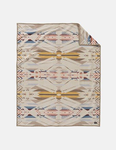 Pendleton Jacquard Blanket - White Sands/Tan