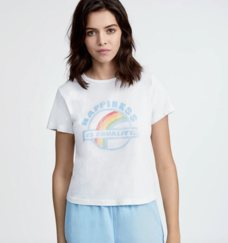 RE/DONE Equality Classic Tee - vintage white