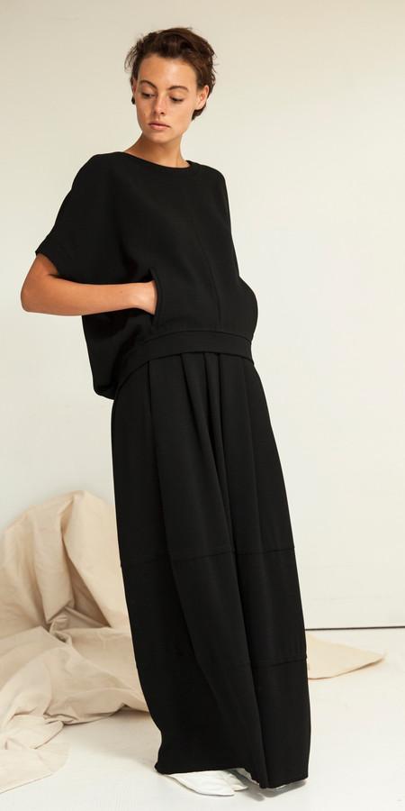 SCHAI Lunar Cocoon Maxi Skirt - Black