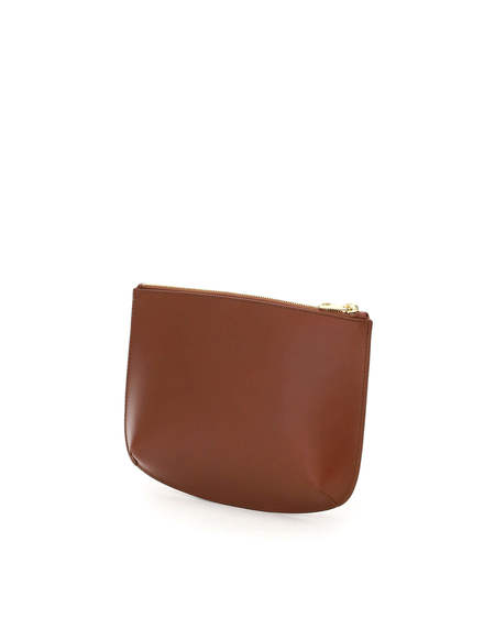 A.P.C. Sarah Leather Clutch - BROWN