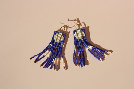 Bri Bol Cobalt Blue Earrings