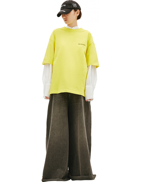 Balenciaga Yellow Logo T-Shirt