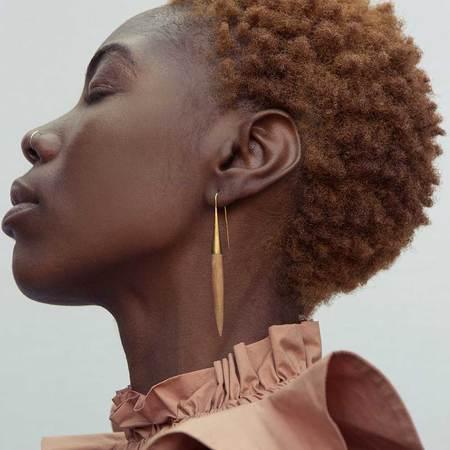 Soko Teak Quill Threaders Earrings