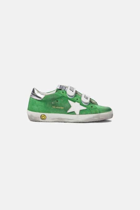 kids Golden Goose Old School Shoes - Green/Silver