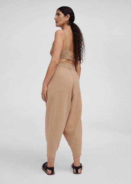 Monica Cordera Cotton Knit Pants - Camel