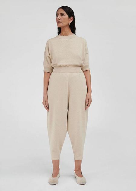 Monica Cordera Cotton Knit Pants - Silver Green
