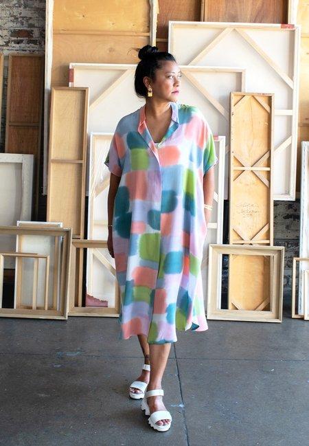 3rd Season Designs Cassidy Shirt Dress - Color Blocks Print
