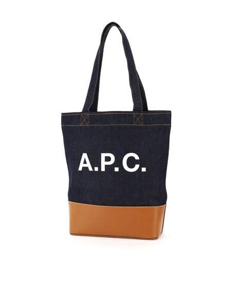A.P.C. Axelle Denim Bag - Blue/Brown