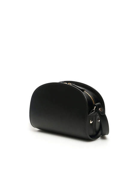 A.P.C. Mini Demi Lune Leather Bag - black