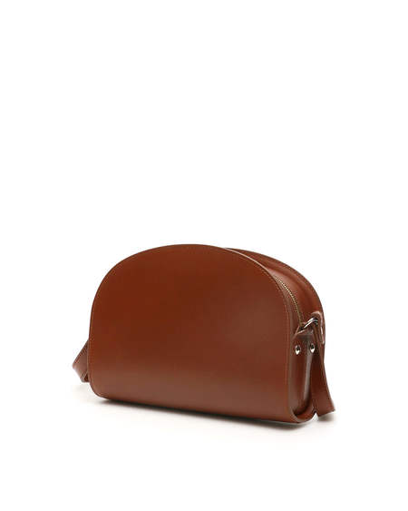 A.P.C. Demi Lune Leather Bag - brown