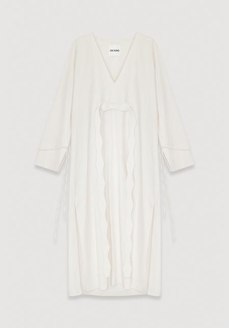 OK KINO Dress - Ecru white
