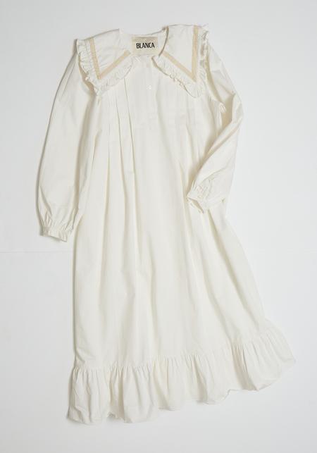 Blanca Laurel Dress - White