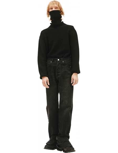 Vetements Wide Black Jeans