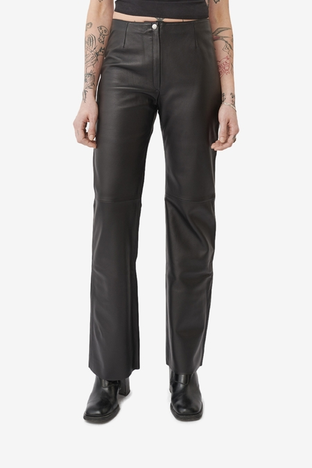 Our Legacy Biker Trouser - Black Leather