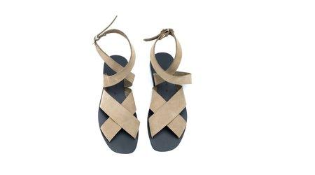 KYMA Patmos Sandal - Black/Olive Suede