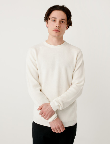 Norse Projects Mens Lauge Waffle Ecru