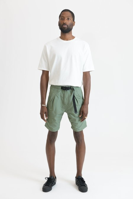 nonnative Alpinist Poly Ripstop Shape Memory Fidlock Buckle Easy Shorts - Olive