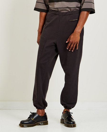 Willy Chavarria Big Daddy Sweat Pants - Black Clay
