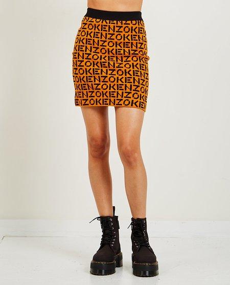 Kenzo Logo Skirt - orange