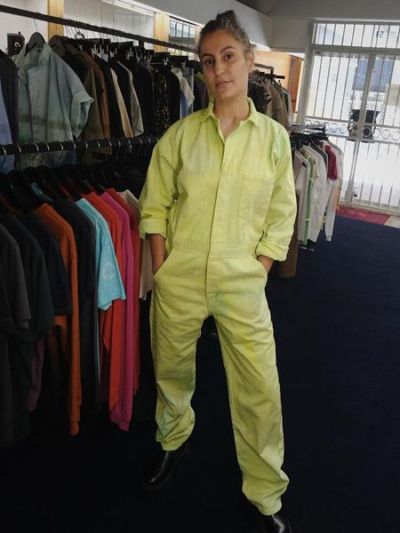 unisex Audrey Louise Reynolds Organic Cotton Jumpsuit - Mixed Greens