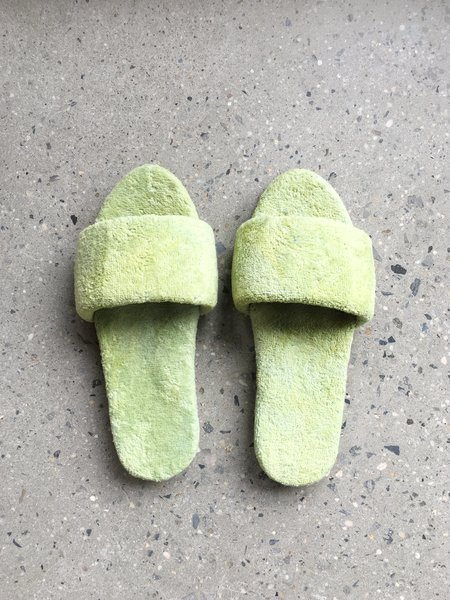 COLORANT X LARRY SHOES TERRY SANDALS - LIME