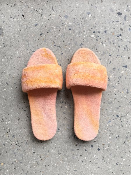 COLORANT X LARRY SHOES TERRY SANDALS - SUNSET