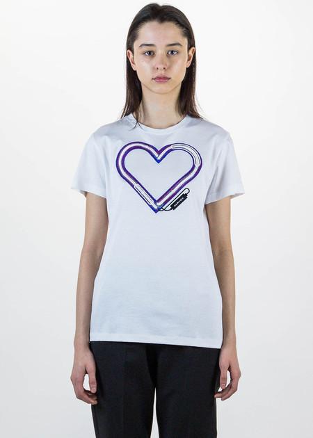 Carven White Heart T-Shirt