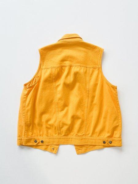 Vintage Denim Vest - marigold