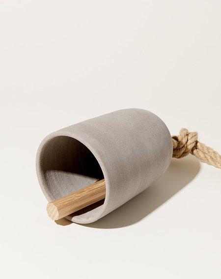 MQuan Medium Thrown Oval Bell - Grey